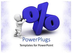 PowerPlugs: PowerPoint template with a person holding the percentage sign