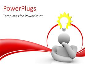 PowerPlugs: PowerPoint template with a person with an idea and white background