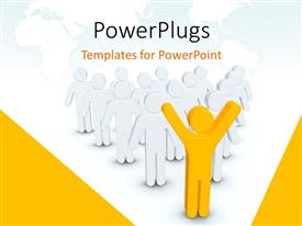 PowerPlugs: PowerPoint template with a person leading a number of people