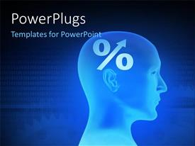 PowerPlugs: PowerPoint template with a person with a number of binary numbers in background