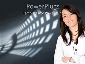 PowerPlugs: PowerPoint template with a person with a number of lights in the background