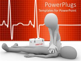 PowerPlugs: PowerPoint template with a person performing a CPR on the other one