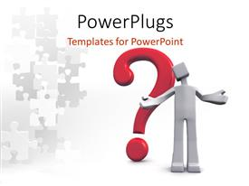 PowerPlugs: PowerPoint template with a person with a question mark and puzzle pieces
