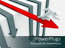 PowerPlugs: PowerPoint template with a person running in one direction
