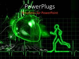 PowerPlugs: PowerPoint template with a person running towards a heart