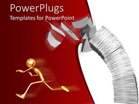 PowerPlugs: PowerPoint template with a person running from the workload