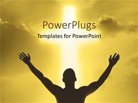 PowerPlugs: PowerPoint template with a person showing devotion to God