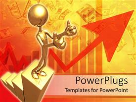 PowerPlugs: PowerPoint template with a person showing thumbs up with money in the background