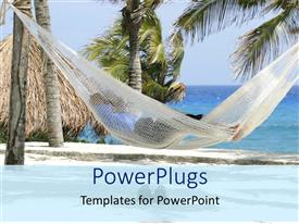 PowerPlugs: PowerPoint template with a person sleeping on the beach