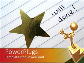 PowerPlugs: PowerPoint template with a person standing on the winning podium