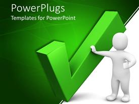 PowerPlugs: PowerPoint template with a person with the tick sign