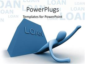 PowerPoint template displaying a person trying to get away from the loan