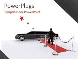 PowerPlugs: PowerPoint template with a person walking towards the car
