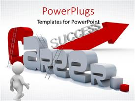 PowerPlugs: PowerPoint template with a person walking towards the career