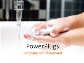 PowerPlugs: PowerPoint template with a person washing his hands with the tap open