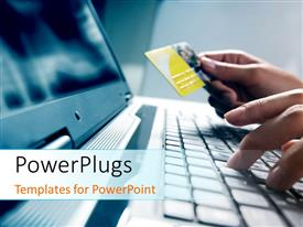 PowerPlugs: PowerPoint template with a person working on the laptop