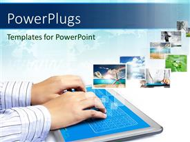 PowerPlugs: PowerPoint template with a person working on the pad