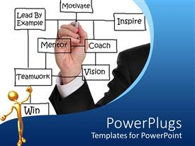 PowerPlugs: PowerPoint template with a person writing on the mirror