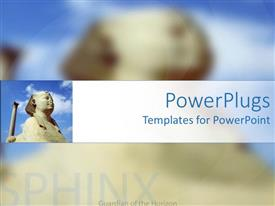 PowerPlugs: PowerPoint template with the photo of sphinx with its reflection in the background
