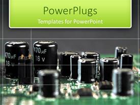 PowerPlugs: PowerPoint template with picture of a circuit board with a black boackground