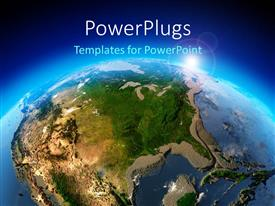 PowerPlugs: PowerPoint template with the picture of Earth from the space