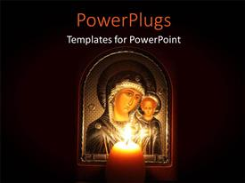 PowerPlugs: PowerPoint template with a picture frame of Mother Mary and Baby Jesus