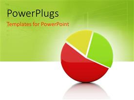 PowerPlugs: PowerPoint template with pie chart depicting sales with graph