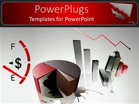 PowerPlugs: PowerPoint template with a pie chart with a fuel check and grayish background