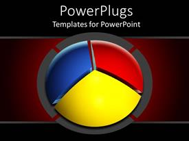 PowerPlugs: PowerPoint template with a pie chart with red background