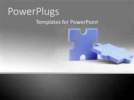 PowerPlugs: PowerPoint template with pieces of puzzles fit together grey background issues metaphor connectivity