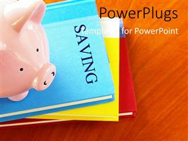 PowerPlugs: PowerPoint template with a number of files with a piggy bank