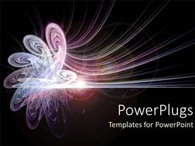 PowerPlugs: PowerPoint template with pink and purple energy as conceptual abstract on space background