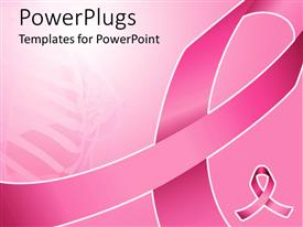 PowerPlugs: PowerPoint template with pink ribbon for fighting breast cancer with women anatomy fading in the pink background