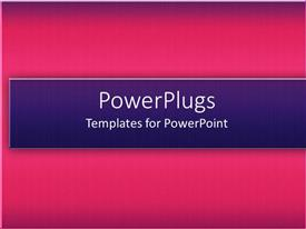 PowerPlugs: PowerPoint template with a pinkish background with bluish place for text