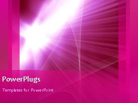 PowerPlugs: PowerPoint template with a pinkish background with a sentence