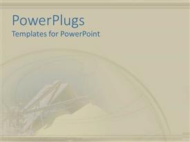 PowerPlugs: PowerPoint template with a plain abstract depiction of an ask colored  background
