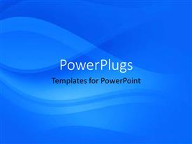 PowerPlugs: PowerPoint template with a plain abstract depiction of a blue colored background