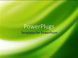 PowerPlugs: PowerPoint template with a plain abstract depiction of a green colored background