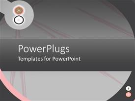 PowerPlugs: PowerPoint template with a plain ash colored background tile with pink stripes