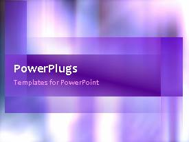 PowerPlugs: PowerPoint template with a plain background with moving purple and white images