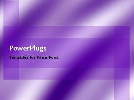 PowerPlugs: PowerPoint template with a plain background with moving purple and white lines