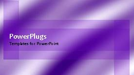 PowerPoint template displaying a plain background with moving purple and white lines - widescreen format