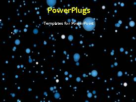 PowerPlugs: PowerPoint template with a plain black background with lots of colourful objects moving