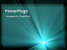 PowerPlugs: PowerPoint template with a plain black background with shinning blue light