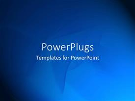 PowerPlugs: PowerPoint template with plain blue abstract patterns on black