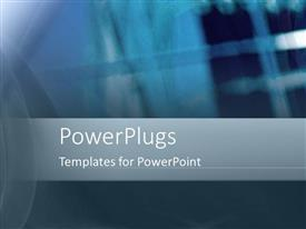 PowerPlugs: PowerPoint template with a plain blue and ash colored background surface with lights