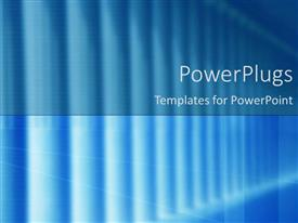 PowerPoint template displaying a plain blue background with some thick white lines on it