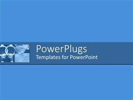 PowerPlugs: PowerPoint template with plain blue backgroundtile with two pairs of hands