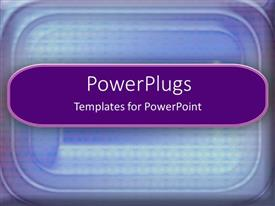 PowerPlugs: PowerPoint template with a plain blue colored background with a curved lines