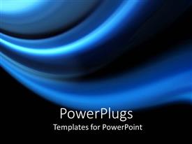 PowerPlugs: PowerPoint template with a plain blue colored tile with thick lines and black background